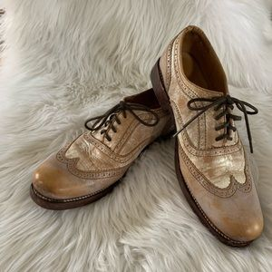 Bed Stu 8/8.5 or 41 Leather Wingtip Oxford Lace Up